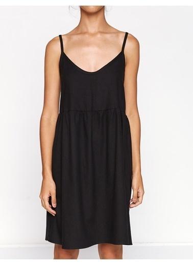 Koton Ekose Elbise Siyah